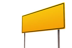 Blank Yellow Sign. On White Royalty Free Illustration