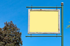 Blank Yellow Sign Stock Image
