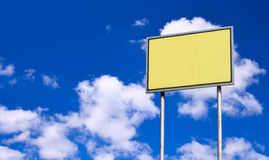 Blank yellow sign Royalty Free Stock Photo