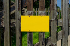 Blank Yellow Sign Stock Photos