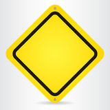 Blank Yellow Sign. Vector illustration Royalty Free Stock Images