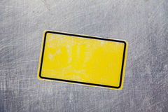 Blank yellow sticker Royalty Free Stock Photos