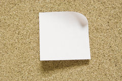 Blank yellow sticky note Royalty Free Stock Photography