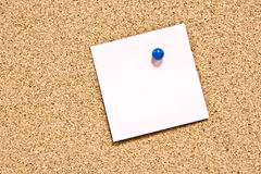 Blank yellow sticky note Stock Image