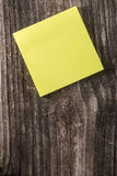 Blank Yellow Sticky Note Post It Stock Photography