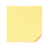 Blank yellow sticky note Royalty Free Stock Images