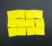 Blank yellow sticky notes stock images