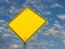 Blank yellow street sign Royalty Free Stock Image
