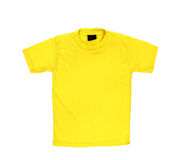 Blank yellow T-shirt. On a white background Stock Images