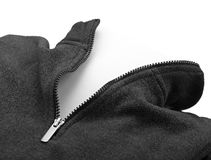 Blank zipper corner Royalty Free Stock Photography