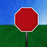 blank znak stop Zdjęcia Royalty Free