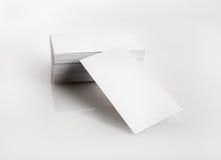 blanka affärskort Fotografering för Bildbyråer