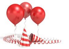 blanka ballons 3d Royaltyfria Bilder