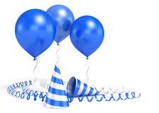 blanka ballons 3d Royaltyfri Foto