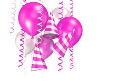 blanka ballons 3d Arkivbild