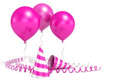 blanka ballons 3d Royaltyfria Foton