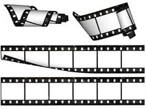 blanka band för designelementfilm Arkivbild