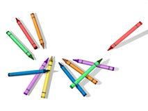 blanka crayons för bakgrund Fotografering för Bildbyråer