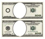 blanka dollar hundra Arkivfoto