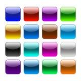 Blanka färgrengöringsdukknappar vektor illustrationer