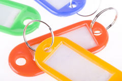 blanka färgrika key etiketter Royaltyfri Fotografi