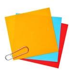 blanka färgrika papperen Arkivfoto