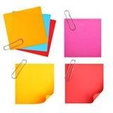 blanka färgrika papperen Fotografering för Bildbyråer