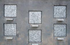 blanka fyrkantiga tombstones Royaltyfria Bilder
