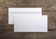 blanka kuvert Royaltyfri Fotografi