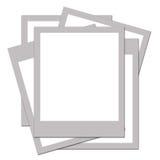 blanka polaroids Royaltyfri Bild