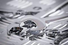 blanka skiftnycklar för krom Arkivfoto