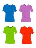 blanka skjortor t vektor illustrationer