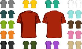 blanka skjortor t stock illustrationer