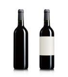 Blanka wineflaskor Royaltyfria Foton