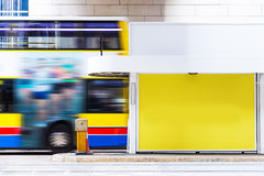 Blanked advertising in station. Blanked advertising in a train station Royalty Free Stock Images