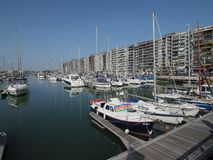 The marina of Blankenberge royalty free stock images