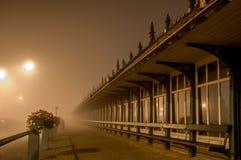 Blankenberge dimmig morgon Arkivfoto