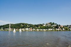 Blankenese. At the Elbe River, Hamburg, Germany stock photo
