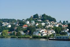 Blankenese. At the Elbe River, Hamburg, Germany stock photography