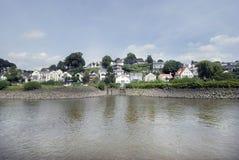 Blankenese och floden Elbe, Hamburg, Tyskland 01 Arkivbilder