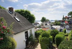 Blankenese - suburb of Hamburg Royalty Free Stock Photos