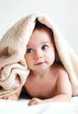 Blanket. Little boy with a blanket on head Royalty Free Stock Photos