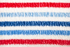Blanket. Colorful striped blanket as a textured background Royalty Free Stock Photography