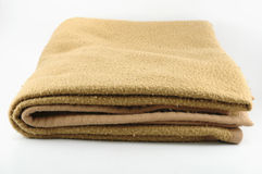 Blanket. Brown blanket isolated on a white background Royalty Free Stock Images