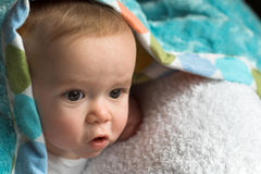 Blanket Baby Stock Photo