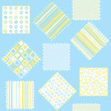 Blanket for baby boys with blue patches. Seamless pattern Royalty Free Stock Photo