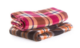 Blanket, blanket on the background Stock Photos