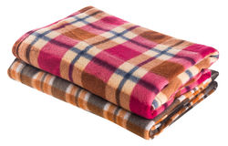 Blanket, blanket on the background Stock Photos