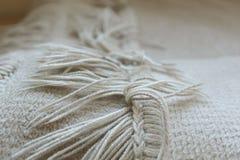 Blanket fringe. Close up of fringed edge of blanket Royalty Free Stock Images