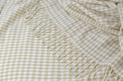 Blanket with Hounds Tooth Pattern Stock Photography